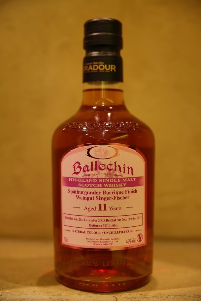 Edradour Whisky Ballechin SPÄTBURGUNDER FINISH 46%